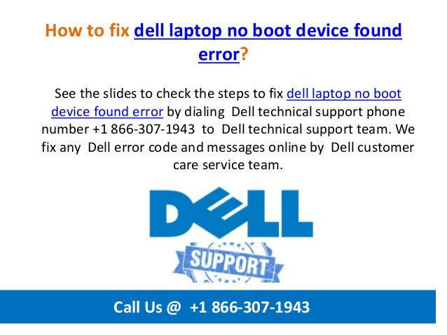 How to fix dell laptop no boot device found error call us