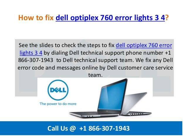 How to fix dell optiplex 760 error lights 3 4 call us @ +1