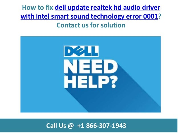 How to fix dell update realtek hd audio driver with intel