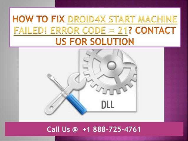 droid4x error 21