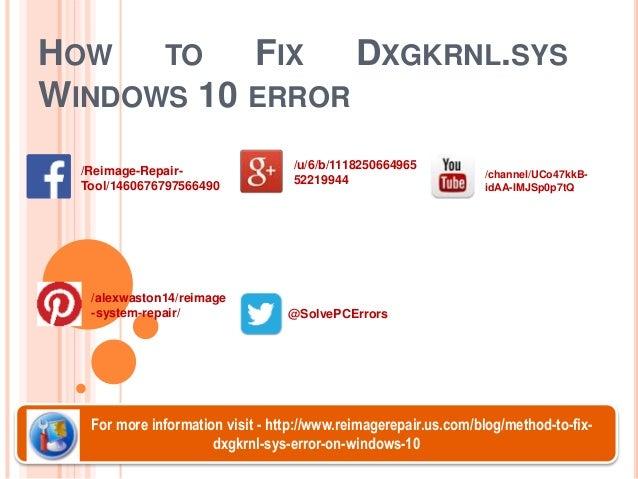 How to Fix Dxgkrnl.sys Windows 10 Error