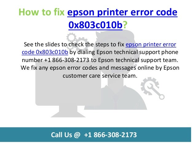 How to fix epson printer error code 0x803c010b call us @ +1