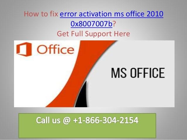 office 2010 activation error