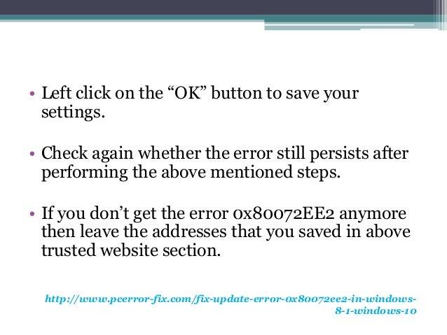 windows 8.1 store error 0x80072ee2