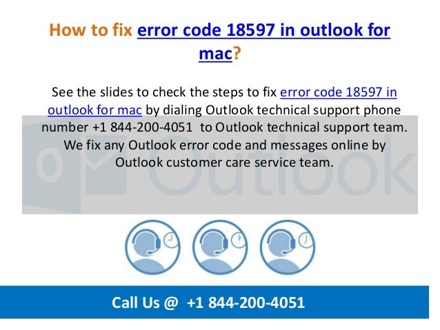 How to fix error code 18597 in outlook for mac call us @ +1