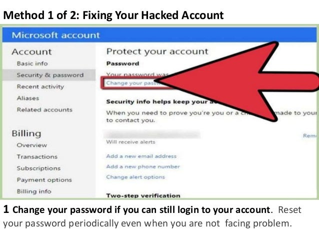 what to do when your microsoft account is hacked
