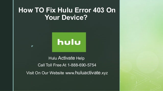 How to fix hulu error 403 on your device?