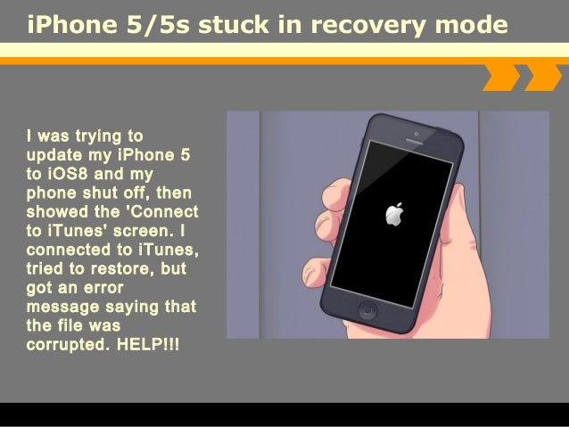 iphone stuck in recovery mode iphone in recovery mode how to get an or iphone out of 17711