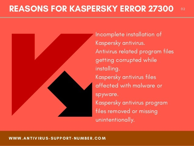 How to fix kaspersky error 27300 - Easy Steps Slide 2