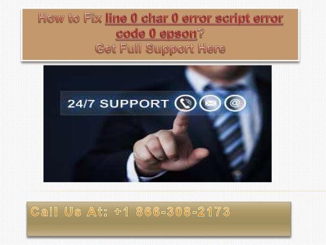 How to fix line 0 char 0 error script error code 0 epson