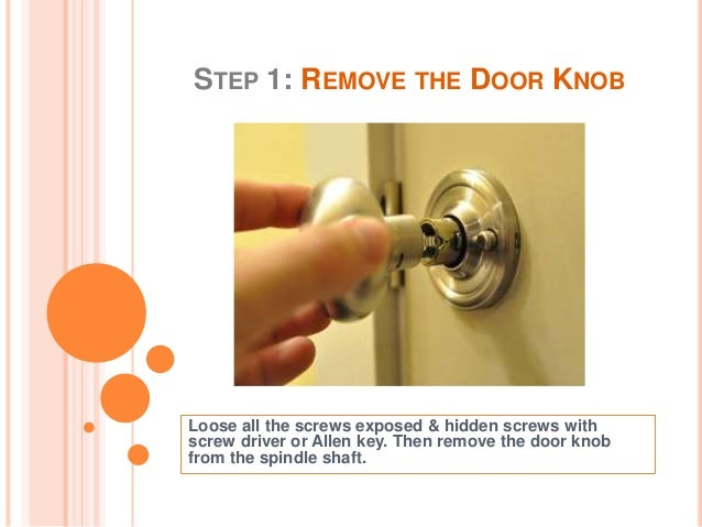 How To Fix Loose Door Knobs