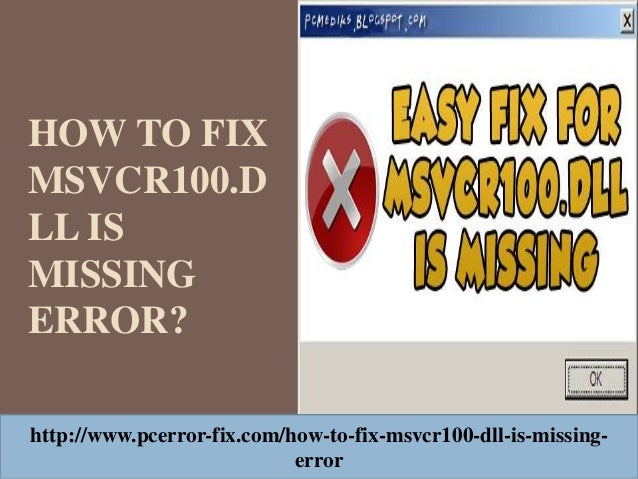 msvcr100.dll windows 10 fix