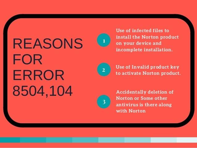Fix Norton Error 8504, 104 - Step-by-step Slide 2