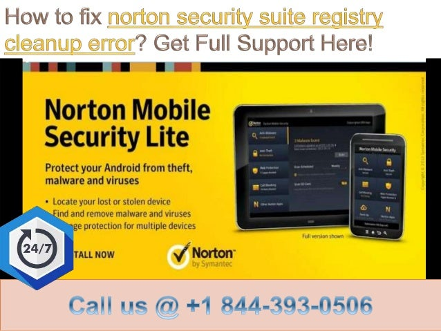 How to fix norton security suite registry cleanup error call