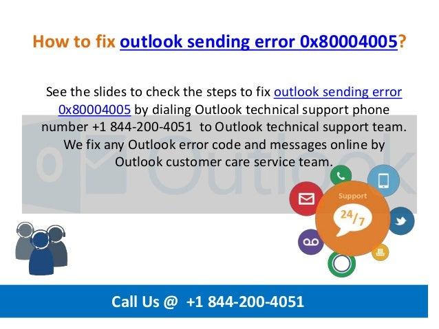 0x80004005 Outlook 2016