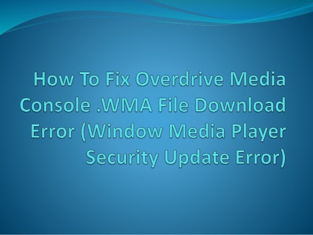 Go and open your Overdrive Media Console