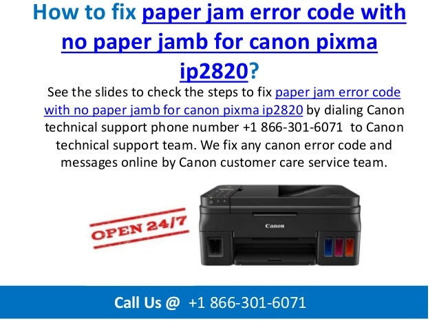 How to fix paper jam error code with no paper jamb for canon