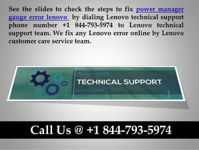 How to fix power manager gauge error lenovo call us @ +1 844 793-5974