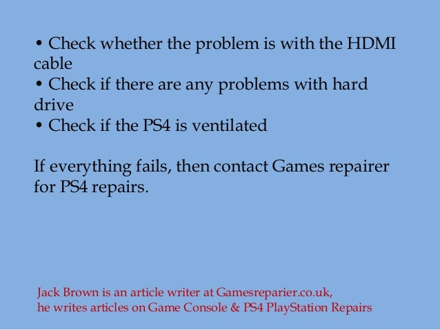 How to fix ps4 turning off problem for your game console?