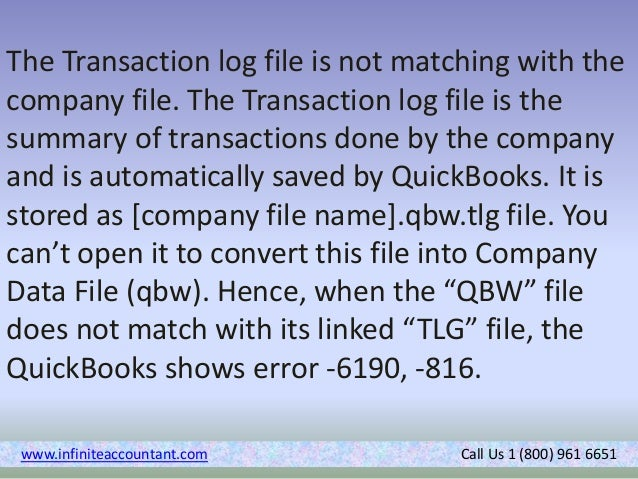 How to Fix QuickBooks Error -6190 -816?