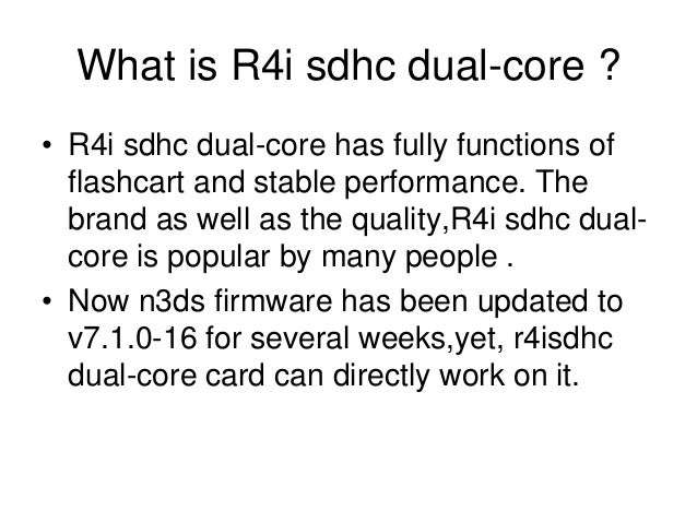How to fix 2014 r4i sdhc dual core white screen issue