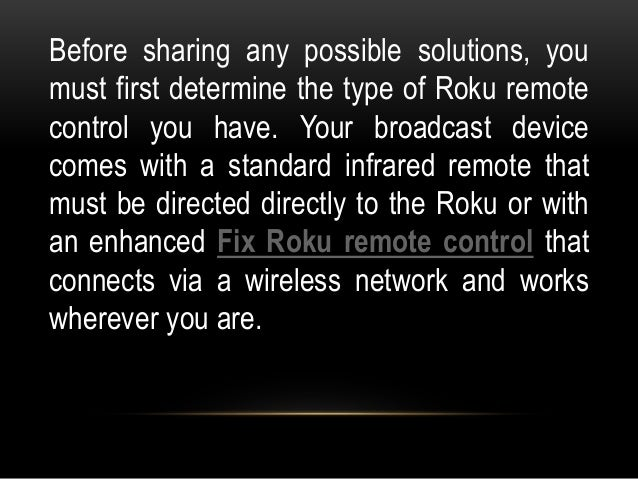 How to fix roku remote not working?