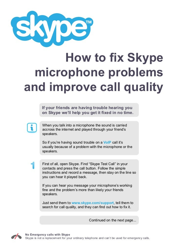 How to Fix Skype Microphone Problems and Improve Call