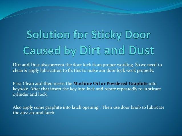 Fix Your Sticky Door Locks Easily
