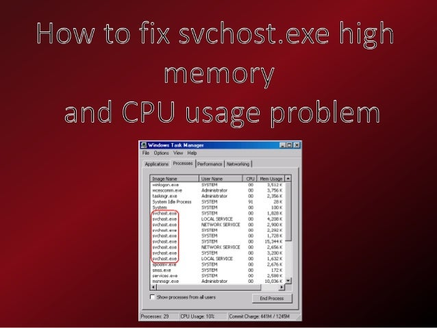 svchost.exe high memory