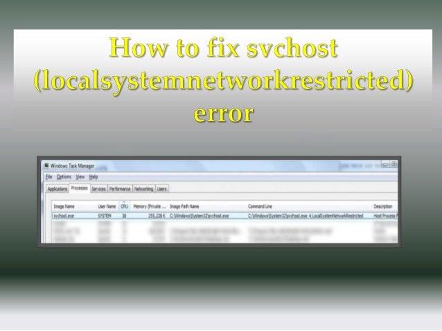 svchost.exe system error fix