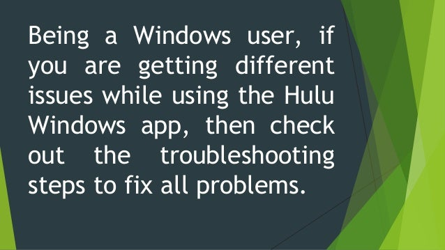 How To Fix The Issues With Your Hulu Windows App?