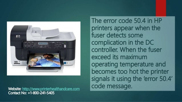 How to fix the problem of error code 50 4 in an hp printer