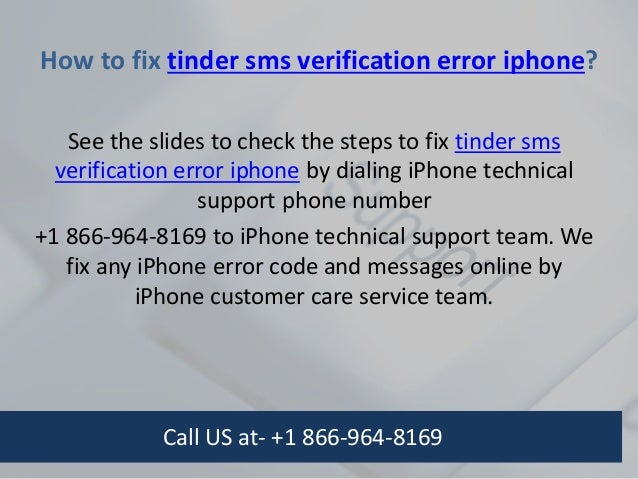 Tinder verify phone number