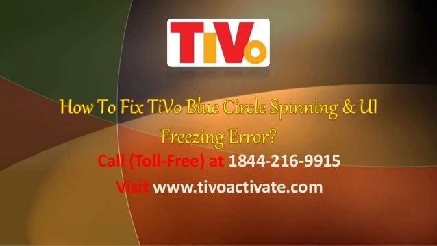 How to Fix TiVo Blue Circle Spinning & UI Freezing Error?