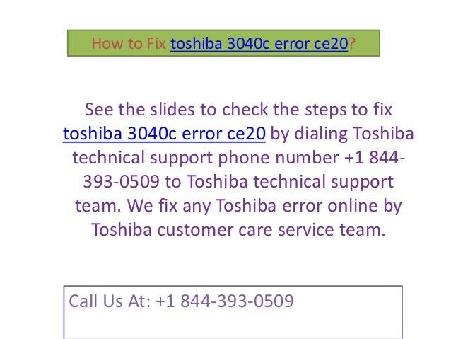 Toshiba ce 20 error