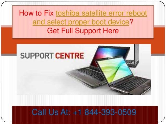 How to fix toshiba satellite error reboot and select proper boot devi\u2026