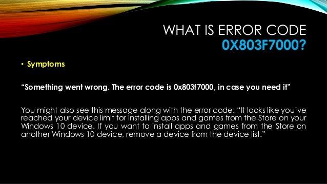 How to fix windows 10 error code 0x803f7000