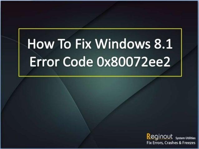 Download Error Code 0x80072ee2 Repair Tool