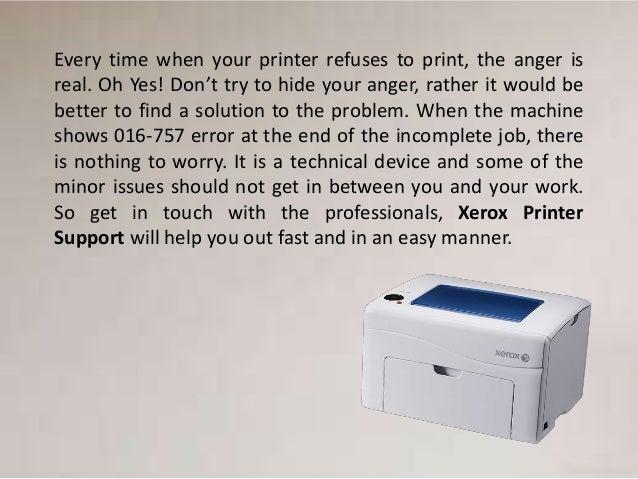 How to Fix Xerox Printer Error Code 016-757?