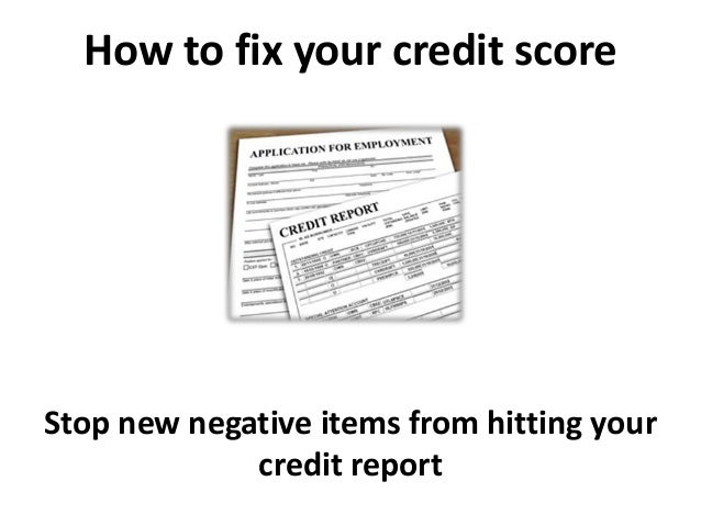 How to fix your credit score and Credit Repair