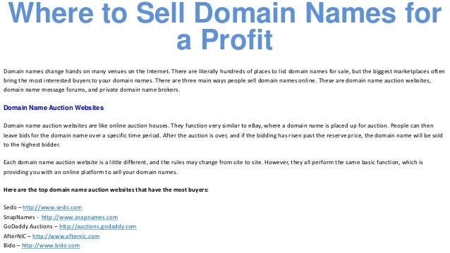 How to Flip Domains