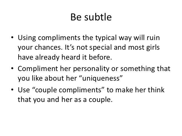 Subtle ways to flirt