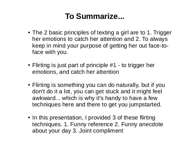 How 2 flirt with a girl over text
