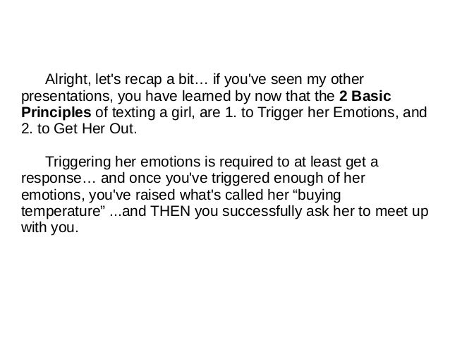 How to flirt with a girl text examples