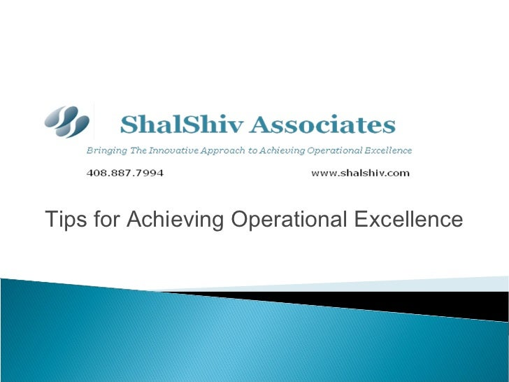 Tips for Achieving Operational Excellence