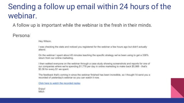 To Follow Up And Convert An Attendee After A Webinar Session