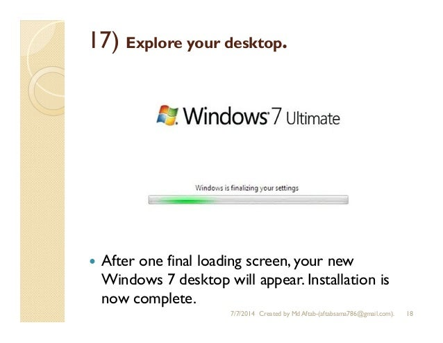 reformat windows 7 ultimate without cd