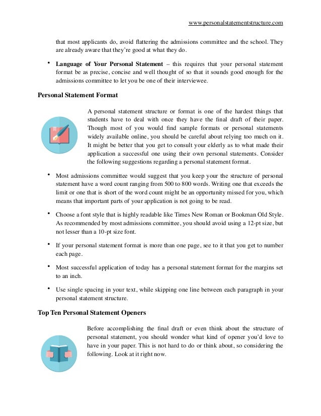 How to Format a Personal Statement – Personal Statement Format