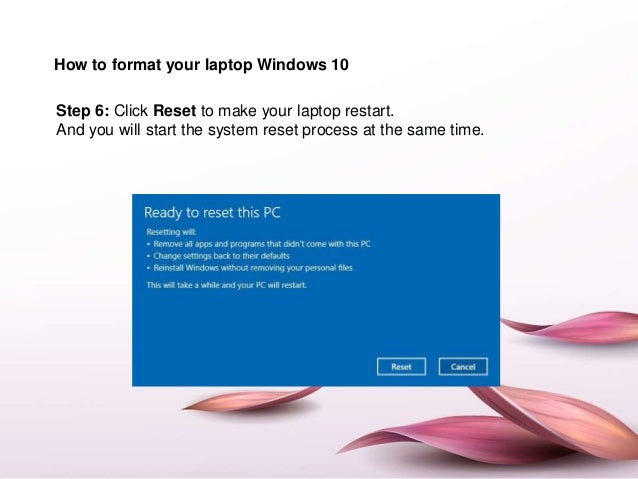 How to format asus acer laptop windows 10