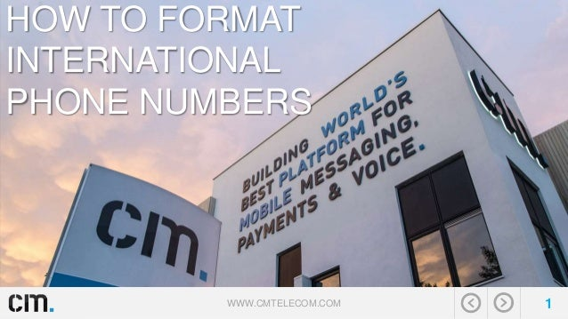 how to format international phone numbers